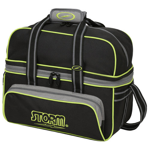 2 Ball Tote Deluxe Black/Gray/Lime