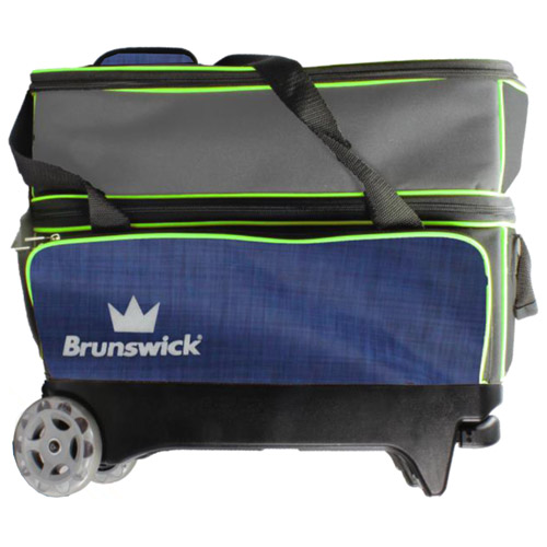 Crown deluxe double roller - Navy/Lime