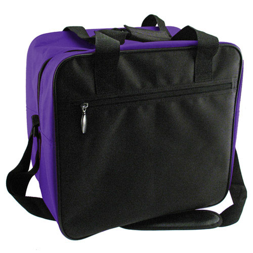 Classic Single Tote Black/Purple