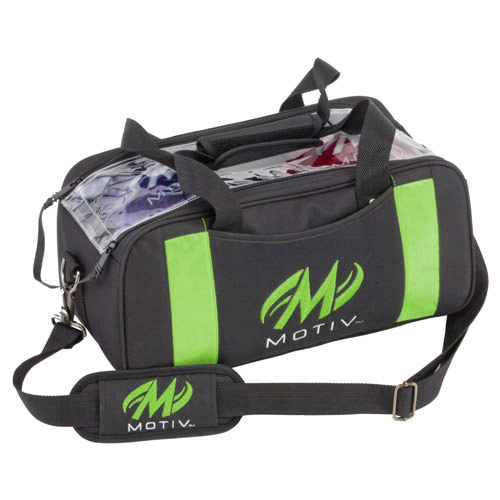 Clear View Double Tote Black/Green