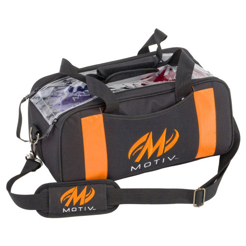 Clear View Double Tote Black/Orange