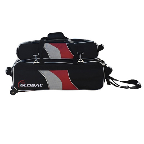 Deluxe Airline 3 Ball Tote Roller Black/Red/Silver