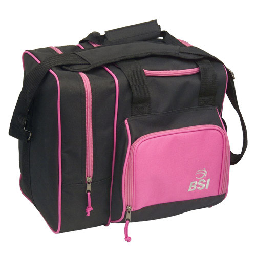 Deluxe Single Tote Black/Pink