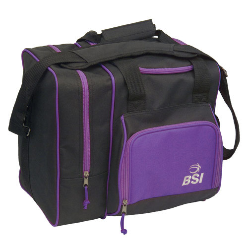 Deluxe Single Tote Black/Purple