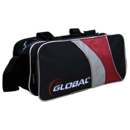 2-ball travel tote - Black/Red/Silver