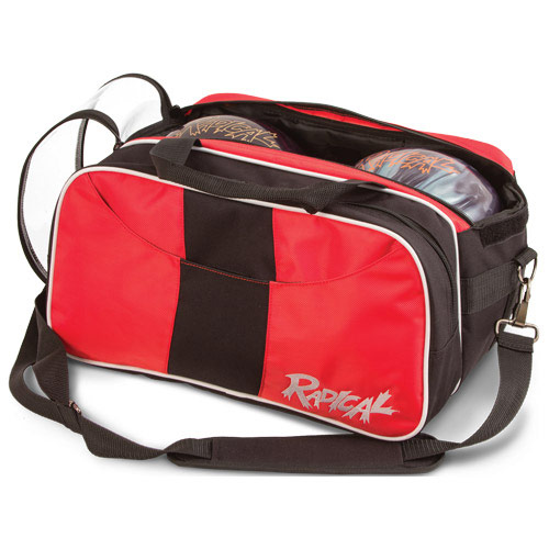 Double Tote With Shoe Pouch Black/Red