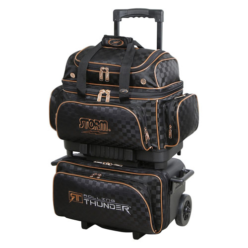 Rolling Thunder 4 ball roller - checkered black/gold