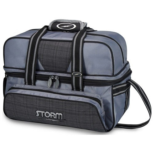 2 Ball tote Deluxe Charcoal Plaid/Gray/Black