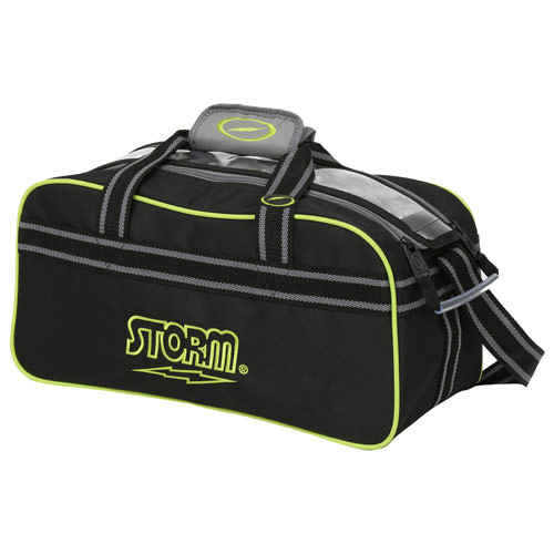 2 Ball Tote Black/Gray/Lime