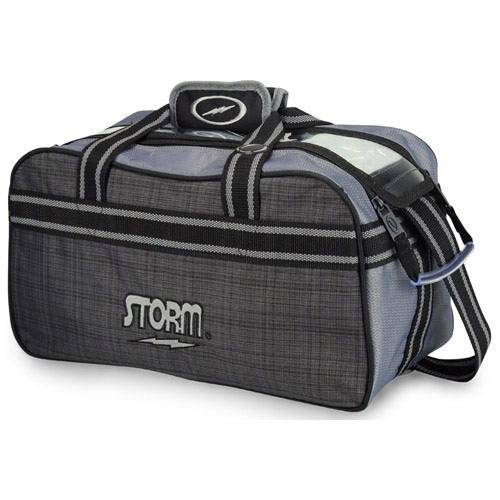 2 Ball Tote Charcoal Plaid/Gray/Black