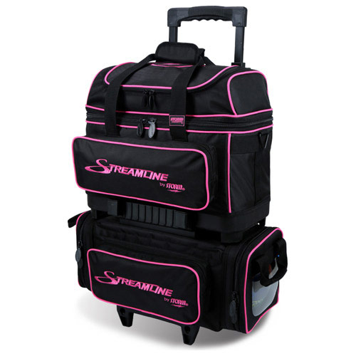 Streamline 4 Ball Roller Black/Pink