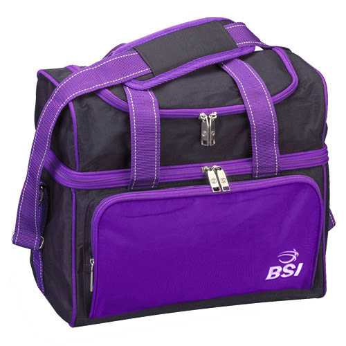 Taxi Single Tote Black/Purple