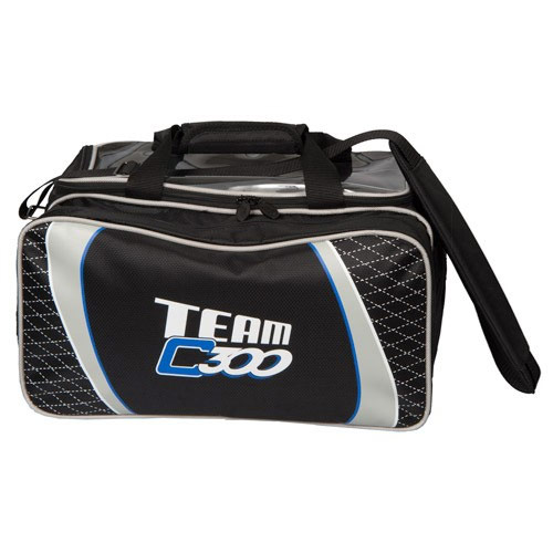 Team Columbia Double Tote W/Shoe Pouch Black/Silver