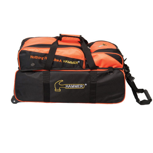 Triple Tote With Removable Pouch Black/Orange
