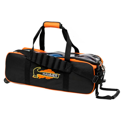 Triple Tote Black/Orange No Pouch