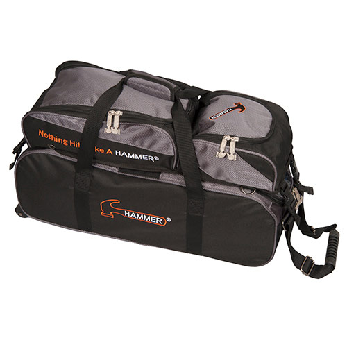 Triple Tote With Removable Pouch Black/Carbon