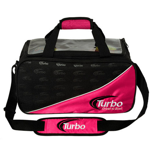2 Ball Tote Black/Pink Clear Top