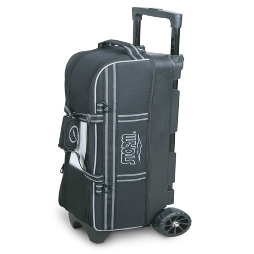 3 ball in line triple tote - black